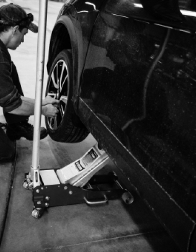 Winter's Auto Mechanic Doing Suspension Inspection